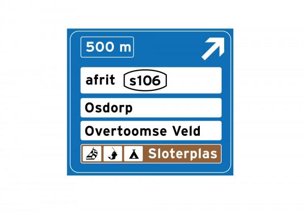 Afslag Sloterplas bord